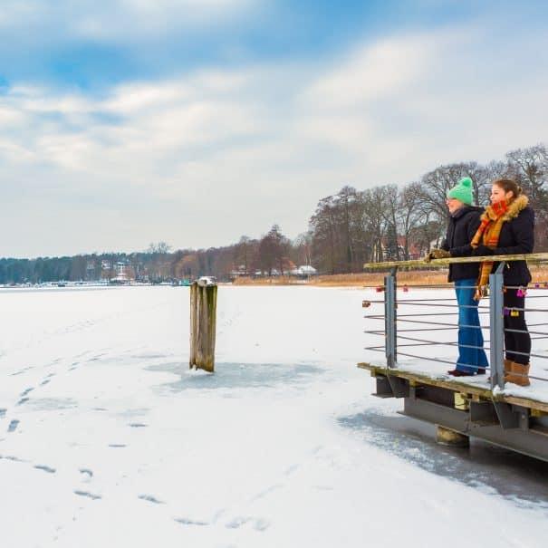 Scharmützelsee im Winter.