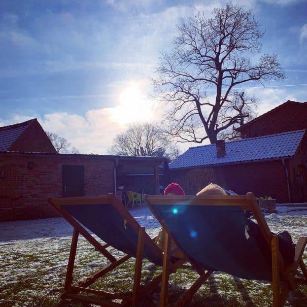 2018 Winter Liegestühle